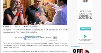 Le père Fouras retrouve Patrice Laffont samedi 10 août sur France 2, Les coulisses de la télévision 08/08/2013