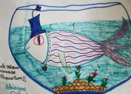 Concours dessin : Mon plus beau poisson - Poisson clown d
