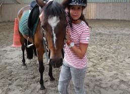 Solène et son cheval