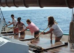 Balayer, astiquer, bateau toujours pimpant !