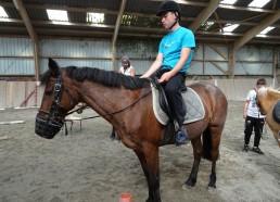Gatien sur son cheval