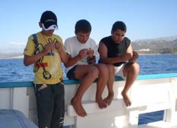 Arrivée sur l'île Rousse