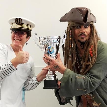 Jack Sparrow fête la victoire avec l'ESEAN