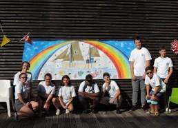 Fresque réalisée par les enfants hospitalisés