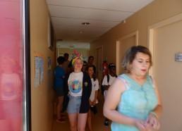 Visite du service des adolescents de l'hôpital de Saint-Malo