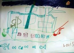 Concours dessins : Mon bateau imaginaire - Louis - Hôpital National de SAINT-MAURICE