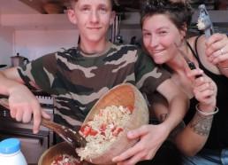 Pascal en cuisine avec Sarah