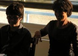 Françoise et Maxence, un ancien matelot venu partager son expérience