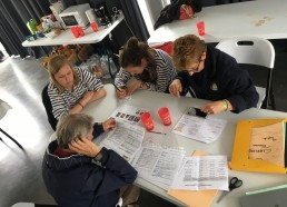 Point médical avec Dr CHAUVE, Caroline et Anaïs, référentes-informières et Josiane BIHANNIC