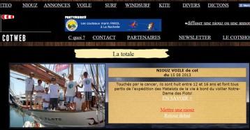 Cotweb : Les matelots de la vie, CotWeb 15/08/2013
