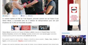 Audience : Fort Boyard leader samedi sur France 2, 9 260€ récoltés pour Les matelots de la vie, Les coulisses de la télévision, 11/08/2013