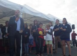 M. Pelleteur, Maire de Pornichet est heureux de recevoir les Matelots à Pornichet