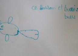 Concours dessin : Mon plus beau poisson - Poisson au trois trous de Kémy - Hôpital National de SAINT-MAURICE