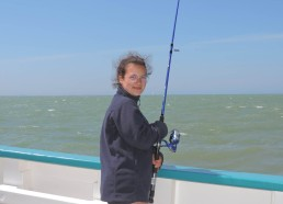 Alwena en pêche