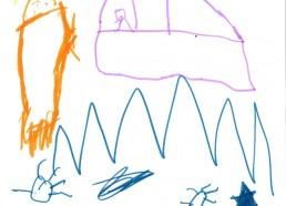 Concours dessins : Mon bateau imaginaire - Adriano, 5 ans : Mon bateau Tracteur - CHR SAINT-NAZAIRE