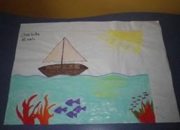Concours dessins : Mon bateau imaginaire - Charlotte, 15 ans - Hôpital ANDRE MIGNOT - LE CHESNAY VERSAILLES