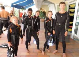 De vrais plongeurs !