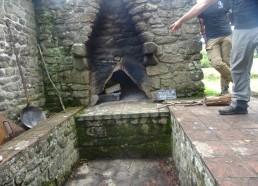 Le four à bois avant d'allumer le feu