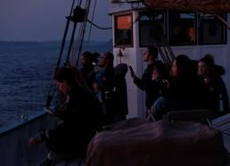 Sortie de port de Saint Malo, lever de soleil majestueux