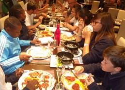 Pour le dernier repas tous ensemble, direction le restaurant Le P