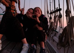 Sarah (marin cuistote) + Lucie (chef d'expé) = <3