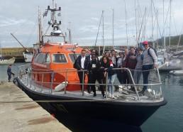 Photo de groupe sur le bateau