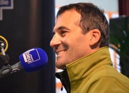 Alessandro au micro de France Bleu Haute-Normandie en compagnie d'Alberto