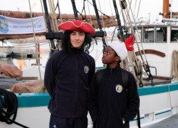 Gatien et Idrissa alias Jack Sparrow et Ti coq