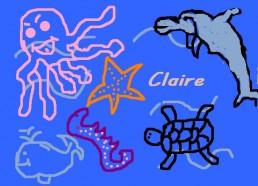 Concours dessin : Mon plus beau poisson - Claire - ESEAN Etablissement de Santé pour Enfants & Adolescents de la région Nantaise