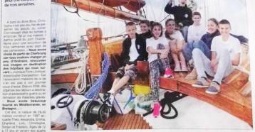 Naviguer pour mieux repartir, La Presse de la Manche, 10 juillet 2015