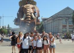Attention l'éléphant arrive pour nous arroser !