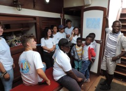 Les Matelots accueillent Aboubacar (peut-être un futur matelot !)