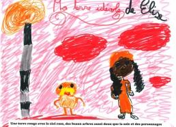 Concours dessin : Ma terre idéale - Elise - ESEAN Etablissement de Santé pour Enfants & Adolescents de la région Nantaise