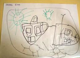 Concours dessins : Mon bateau imaginaire - Faysel, 6 ans - Hôpital National de SAINT-MAURICE