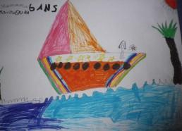 Concours dessins : Mon bateau imaginaire - Maïnouna, 6 ans - Hôpital ANDRE MIGNOT - LE CHESNAY VERSAILLES