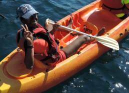 Hawa préfère le kayak