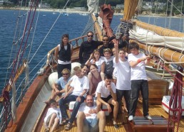 L'équipe des matelots et leur marraine