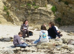 Hugo, Chloé, Adam et Maël expliquent leur future expédition