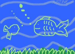 Concours dessin : Mon plus beau poisson - Justine - ESEAN Etablissement de Santé pour Enfants & Adolescents de la région Nantaise