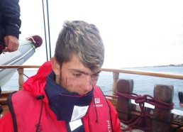 Baptême pour Florian pour son premier quart de nuit, un vrai marin