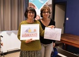 Lila AKEB du CH de Versailles et Sylvie AUGER propriétaire de la Fleur de Lampaul, marraines des expéditions 2019