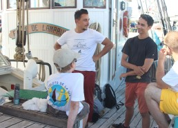 Arrivée à bord de Mathieu et Tanguy
