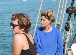 Sarah et Maelle observe le Fort…