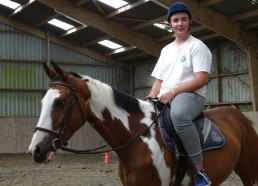 Hugo sur son cheval