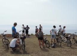 Arrivée en vélo à côté de Port La Meule
