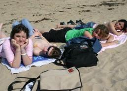 Les Matelotes à la plage