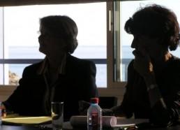 Christine, la secrétaire et Françoise la Présidente