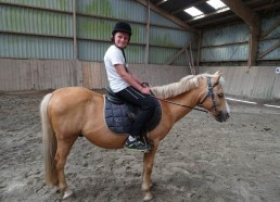 Mathéo, fier sur son cheval Chronos