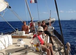 Un équipage concentré…