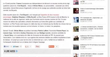 Nadège Lacroix à l'assaut de « Fort Boyard », Buzz Media 24/07/2013
